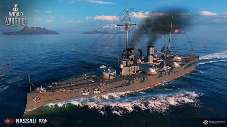 Линкор Nassau(3-й уровень).